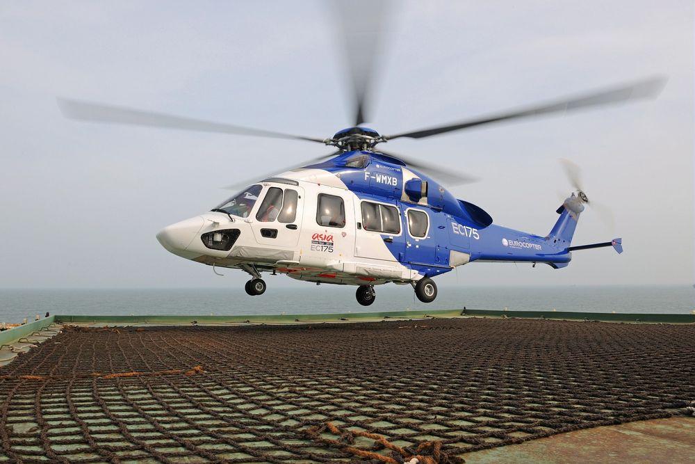 Det nye Airbus Helicopters EC 175 ble demonstrert for oljeselskap og helikopteroperatører på Sola.