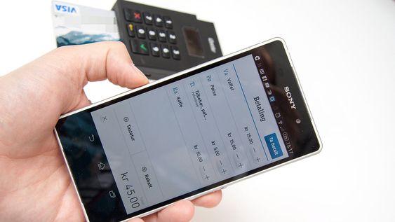 Du kan spesifisere betalingen etter varelinjene du har lagret, eller legge inn beløp manuelt.
