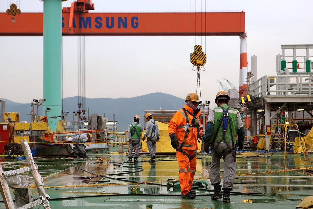 Valemon-dekket ble bygget ved Samsung Heavy Industries' verft i Sør-Korea uten alvorlige hendelser.
