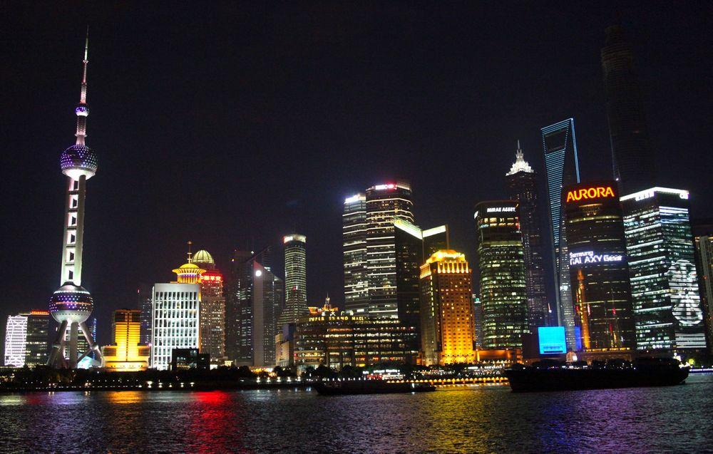 Shanghai synker med rundt halvannen centimeter i året.
