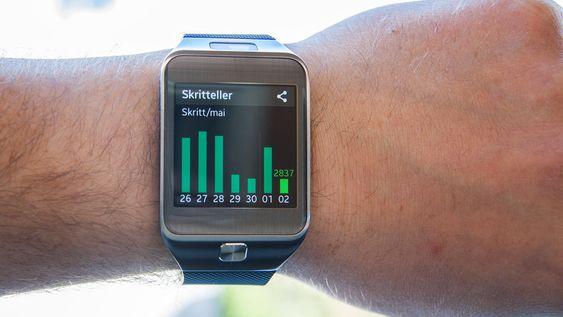 Skrittelleren følger med på hvor aktiv du har vært i løpet av dagene.
