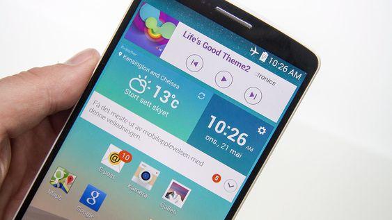Widgeten nest øverst er LGs Smart Notice funksjon.