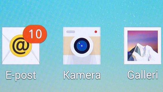 Utsnitt fra skjermen til LG G3.