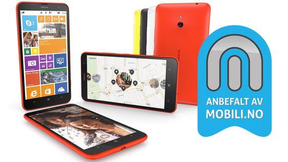 Vi anbefaler Lumia 1320 til deg som vil ha stor skjerm, god batteritid og ikke vil bruke så mye penger.