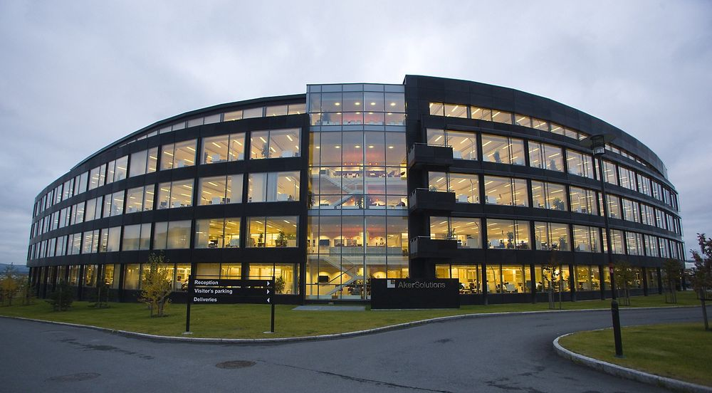 De ansatte ved hovedkvarteret til Aker Solutions ASA på Fornebu kan glede seg over en ny kontrakt.