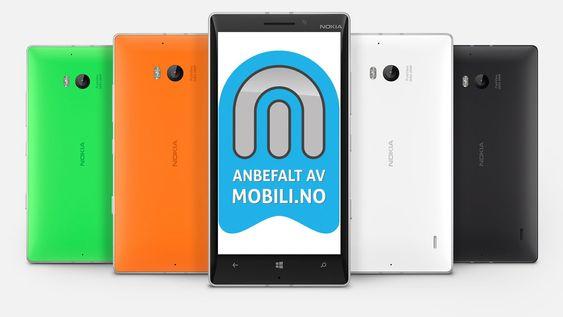 Vi anbefaler Nokia Lumia 930.