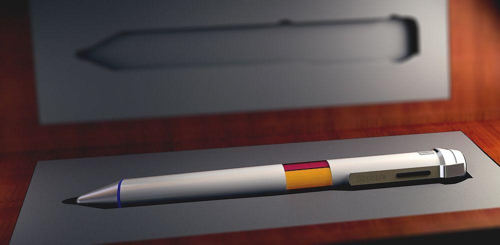 Scribble har nnebygde blekktanker som kan gjenskape inntil 16,7 millioner farger.