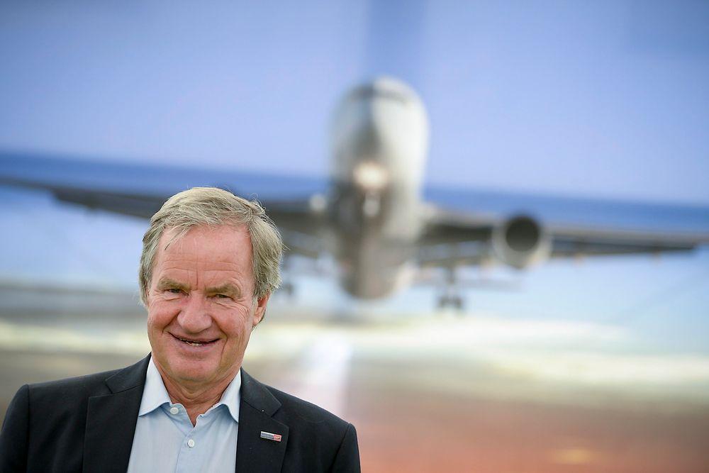 Norwegian-sjef Bjørn Kjos var torsdag i London i forbindelse mellom London og USA. Dette bildet er tatt i Sverige der han deltok under Almedalsveckan tidligere i uka.