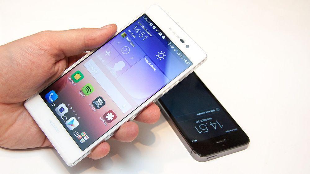 Huawei Ascend P7 ligner litt på iPhone, men kjører Android. De har imidlertid latt seg inspirere av iOS også.