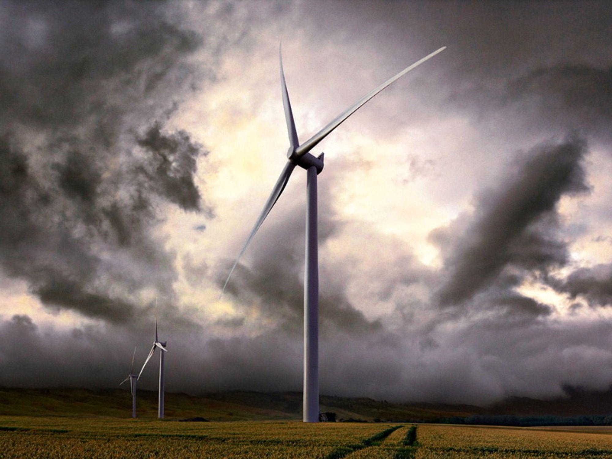 De nye Siemens-turbinene på Ytre Vikna får 92,5 meter høye tårn. Når vingespissen står rett opp, vil den rage 149 meter til værs. Rotordiameteren blir 113 meter.