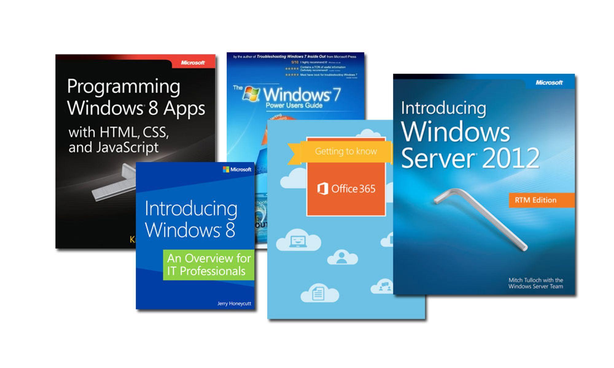 Blant e-bøkene som kan lastes ned gratis fra Microsoft er blant annet en programmeringsguide for Windows 8-apper på mer enn 800 sider.