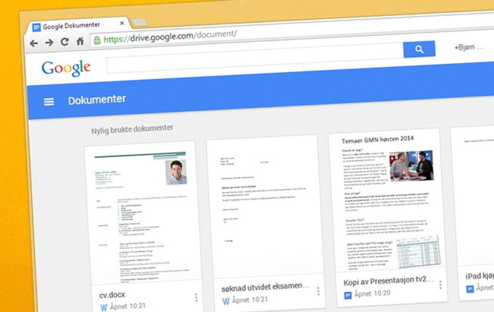 Google pusser opp Docs
