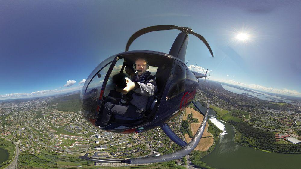 TUs fotograf Eirik Helland Urke tok turen opp i et helikopter over Oslo onsdag, og ett av resultatene ble dette. Kan du ta et bedre #tuselfie?