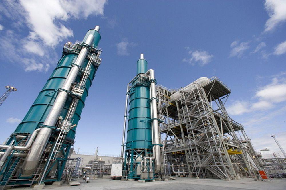 Kværner og det statskontrollerte China Offshore Oil Engineering Co. danner et felles engineeringselskap. Fra før har de to selskapene samarbeidet blant annet på Nyhamna-prosjektet (bildet), og de er allerede i gang med første oppdrag i Kina.