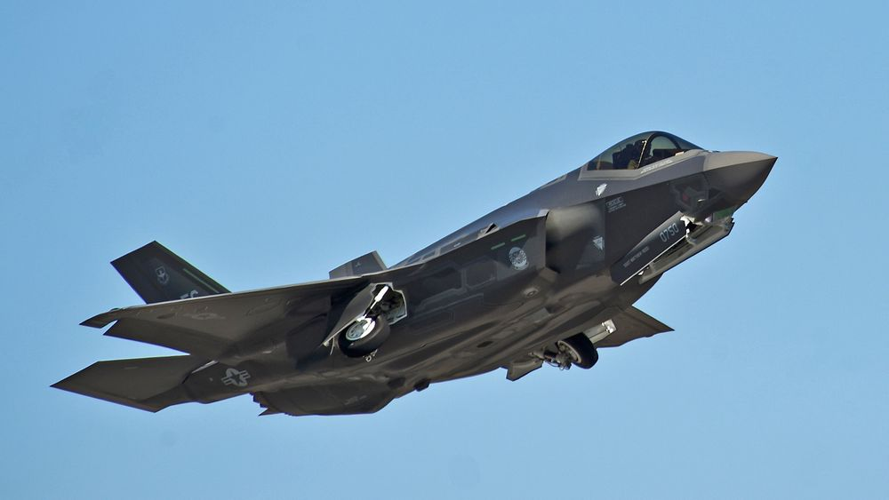 F-35 under letting på Eglin Air Force Base i Florida.