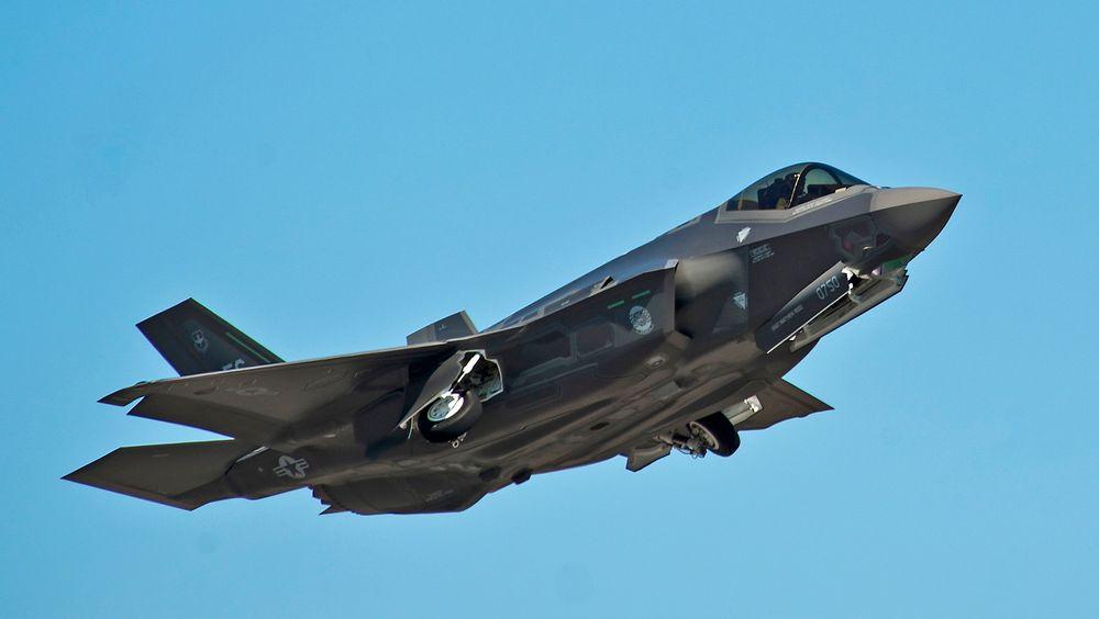 F-35 under letting på Eglin Air Force Base i Florida.