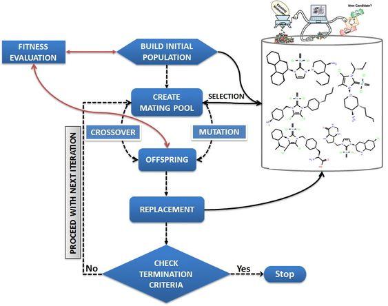 """Molekyler muteres eller """"parrer"""" seg i datamaskinen med programmer for kunstig evolusjon."""