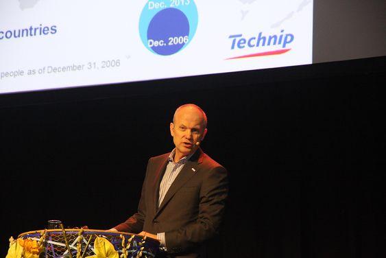 Erfaring: Odd Strømsnes, adm.dir. i Technip under årets Subsea Valley-konferanse.