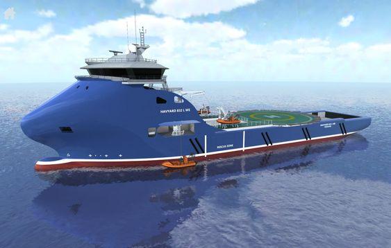 Ferdig båt: Illustrasjonen viser hvordan skipet skal se ut når det er ferdig og klart til å gå i tjeneste for Sysselmannen på Svalbard.