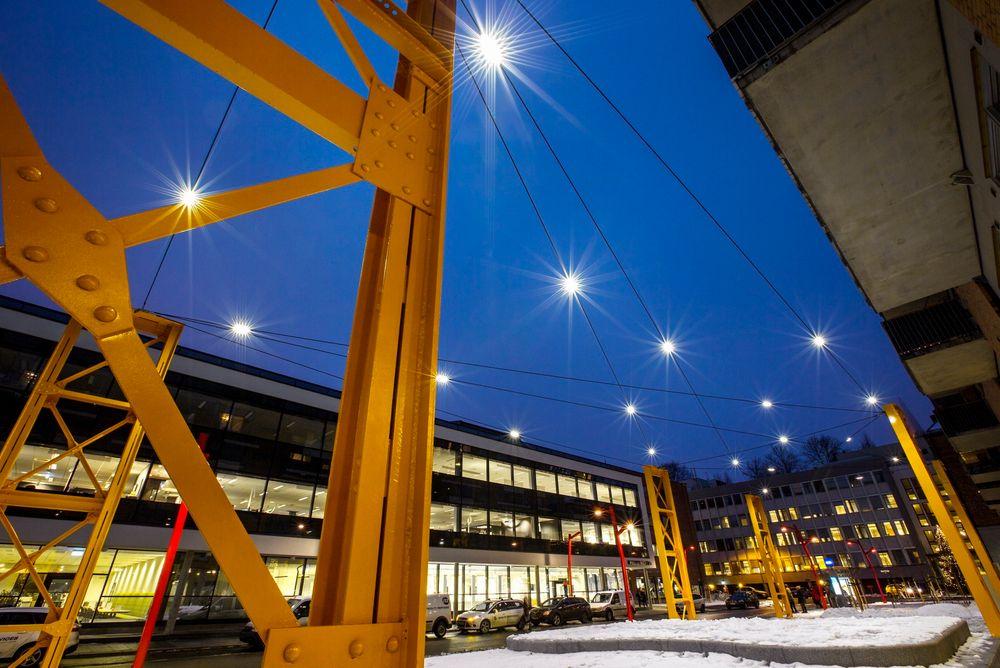 Philips FreeStreet lys oppleves ifølge flere kunder som en stjernehimmel på kveldstid.