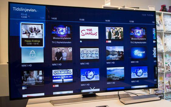 Bra Smart-TV: Det nye Smart-TV grensesnittet er svært oversiktlig og ikke minst raskt å manøvrere i.