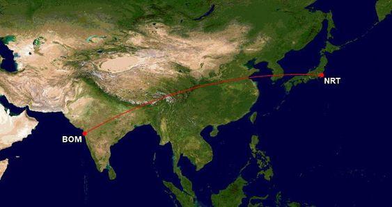 Per i dag er det ANAs flyrute mellom Tokyo-Mumbai som er den lengste med B737 (B737-700ER).