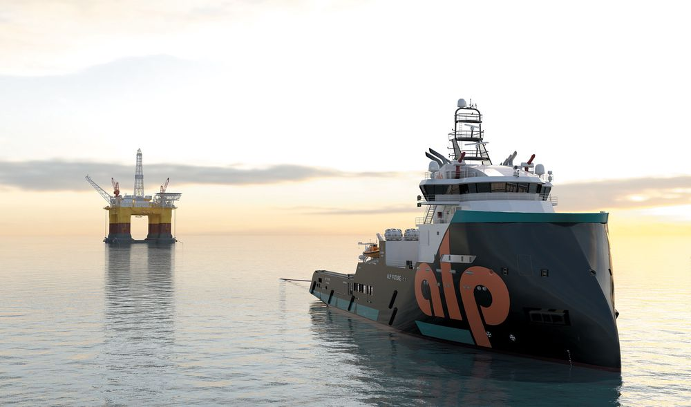 Instllasjon: De havgående slepebåtene ALP har bestilt fra Niigata i Japan, blir også utstyrt som ankerhåndteringsfartøy. De kan dermed også være med på å installere rigger eller plattformer på feltene.