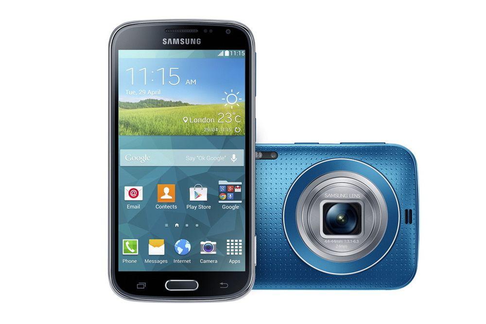 Kameratelefon: Samsungs nye Galaxy K zoom skal lokke de som enda har kompaktkamera over til telefonverdenen.