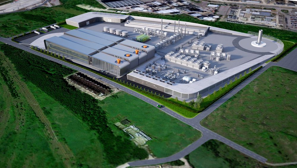 Biofuel til luftfarten: British Airways og Solena Fuels Corporation har offentliggjort en avtale om å bygge denne biodrivstoff-fabrikken som blant annet skal produsere 50.000 tonn biojet til luftfarten. Anlegget går under navnet Greensky London.  Illustrasjon: British Airways