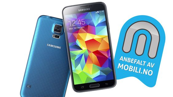 Vi anbefaler Samsung Galaxy S5.