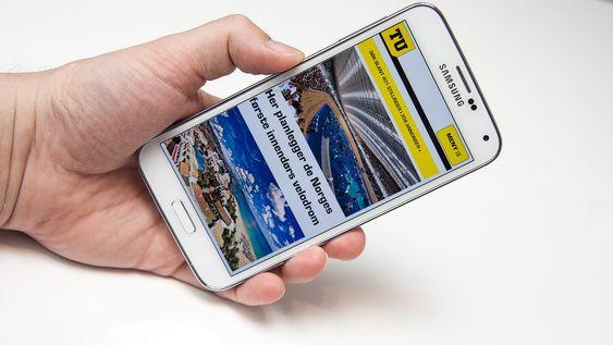 Samsung Galaxy S5 er en super surfemobil.