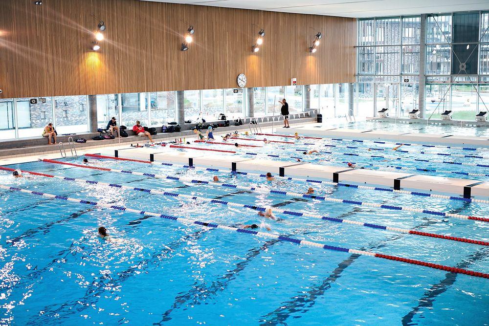 Stort: Det nye svømmeanlegget er mer enn fire ganger så stort som det kommunen driftet tidligere.