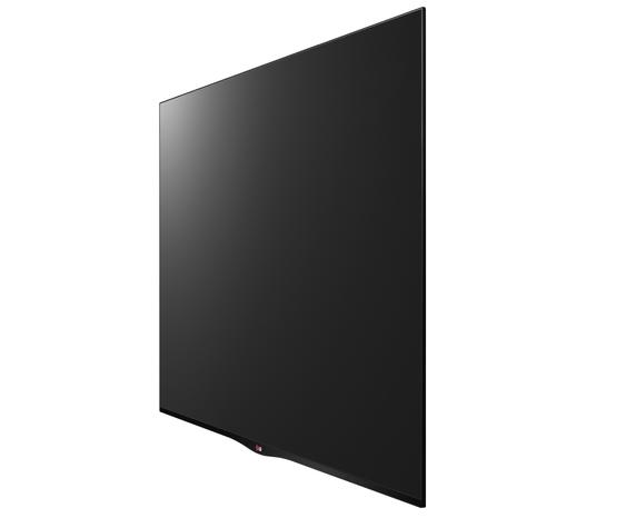 Lydfri: Denne 55 tommer OLED-TVen, 55EA880W, kommer uten høyttalere. De fleste som har en slik vil heller bruke lydanlegget de allerede har.