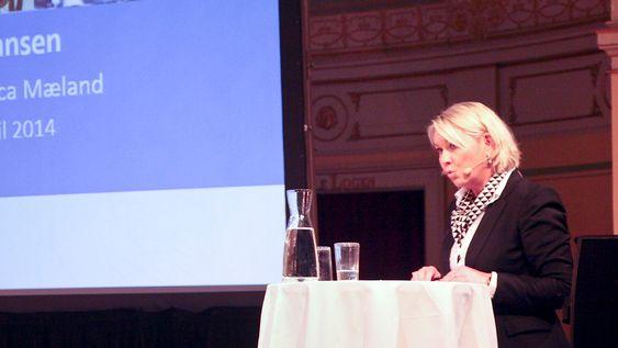 Næringsminister Monica Mærland inviterte de 12 nominerte til Eksportprisen til sitt kontor.