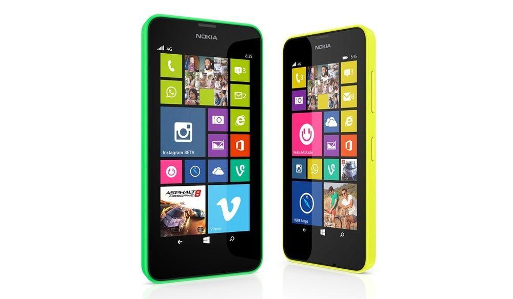 Lumia 630 og 635 blir de første mobiltelefonene som kommer med Windows Phone 8.1 forhåndsinstallert.