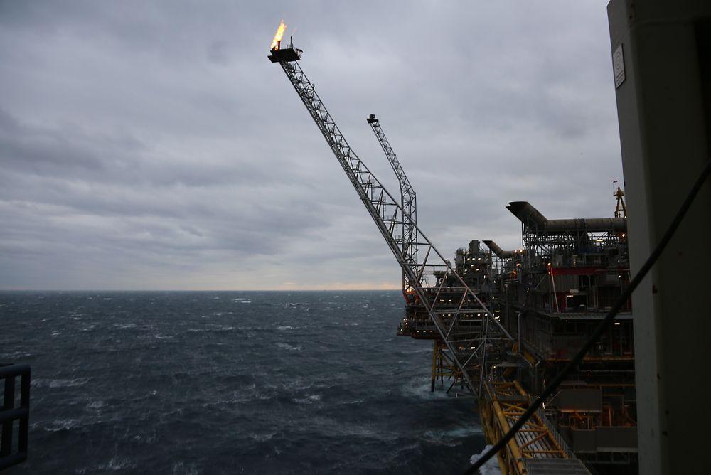 Som en del av et Enova-prosjekt skal Statoil vurdere tiltak for å forbedre faklingen på Oseberg.
