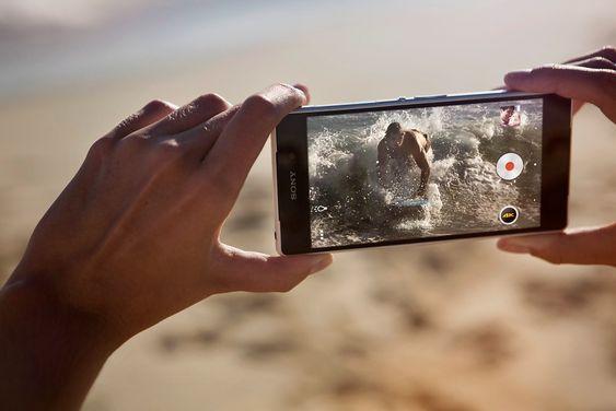 """4K mobil: I april kommer nye Sony Xperia Z2 som kan filme i  UHD oppløsning. Det blir en måte å løse """"innholdskrisen"""" på."""