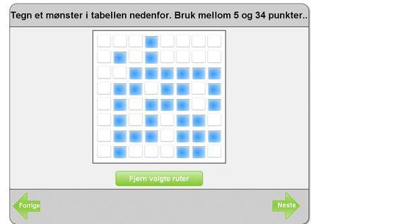 Mønster kan brukes istedenfor passord.