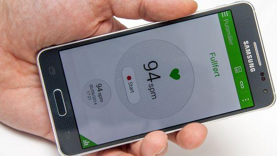 Pulsmåleren fra Galaxy S5 er på plass.