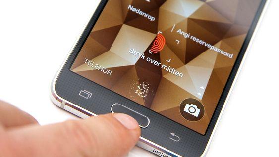 Fingeravtrykkleseren er like lite nyttig som på Samsung Galaxy S5.
