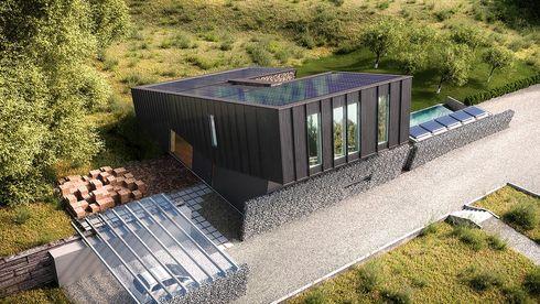 Dette huset produserer nok strøm til å lade elbilen og varme svømmebassenget