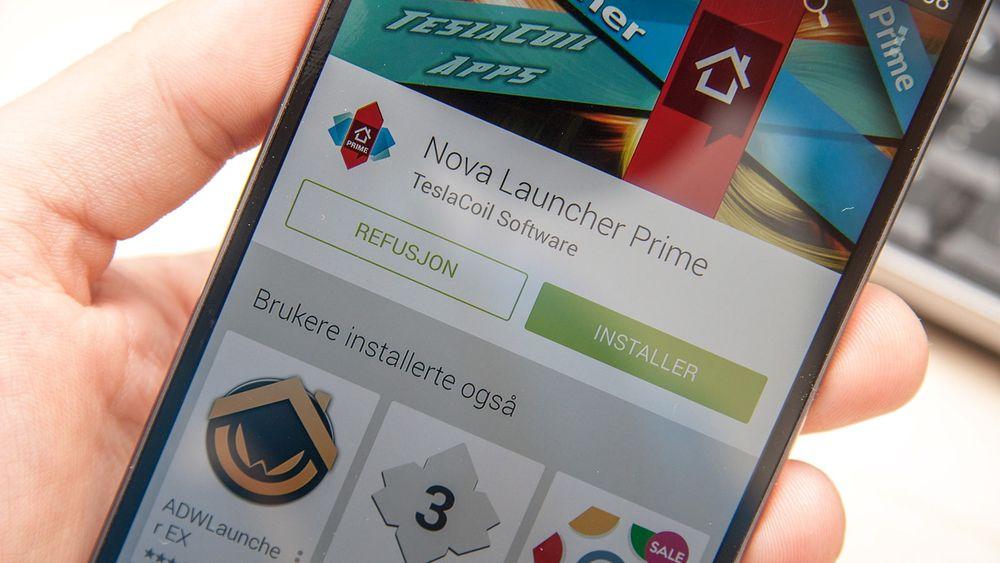 I appbutikken Google Play kan du angre et kjøp i inntil to timer.