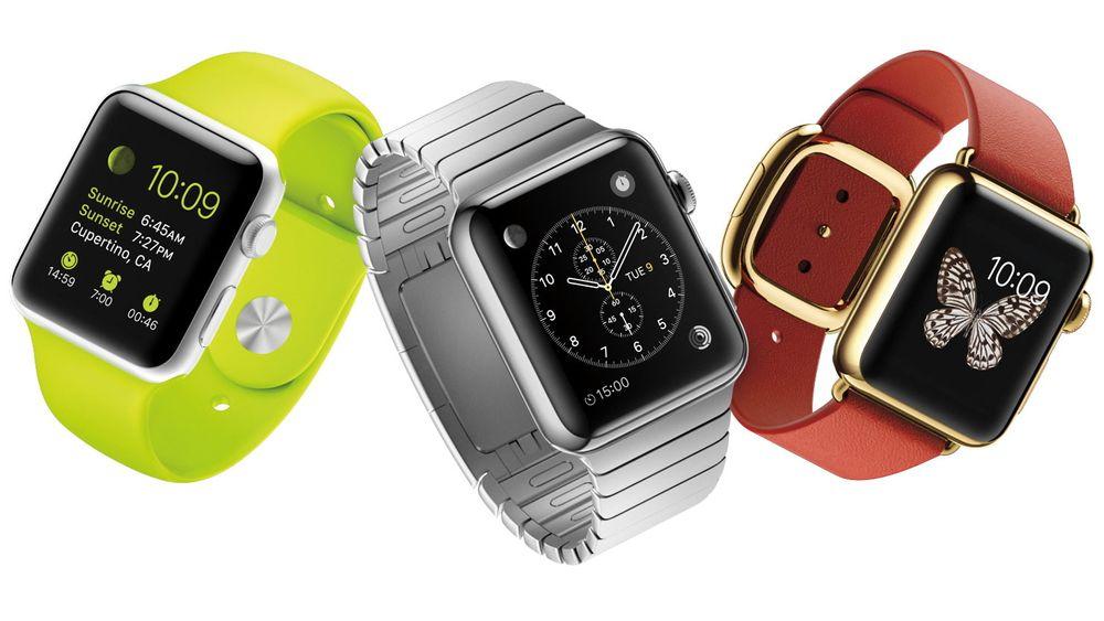 Apple Watch kommer flere utgaver og to størrelser.