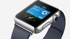 Apple Pay er integrert i klokka. Mobilbetaling blir dermed enklere for klokkeeiere.