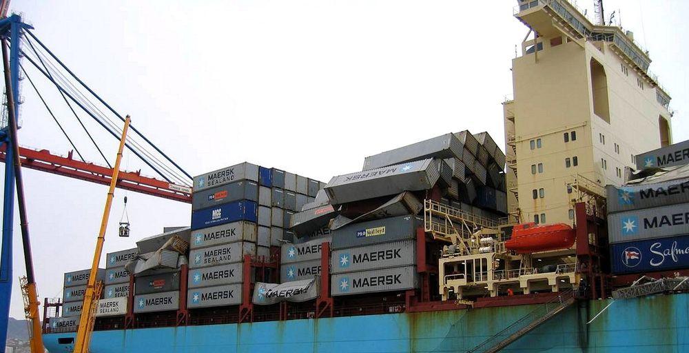 Losses: Svendborg Maersk kom 17. februar til Malaga i Spania. Containere ble fjernet og skipet reparert.