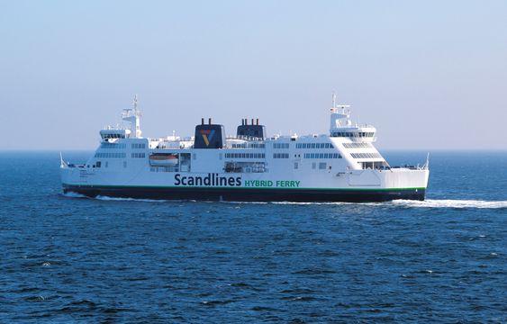 Prinsesse Benedikte - en av to Scandlines-ferger bygget om til diesel-elektrisk og batterihybrid.