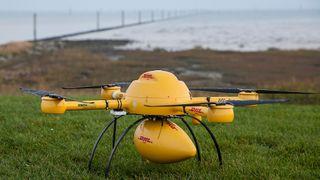 Denne dronen skal frakte medisiner til en øy i Nordsjøen