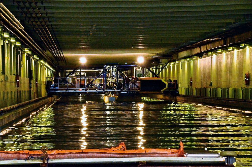 Lang planlegging: Skipsmodelltanken sto ferdig i 1939, etter 26 års planlegging av en gruppe visjonære fagfolk og industriledere med NTH-professor Hans R. Mørch i spissen.