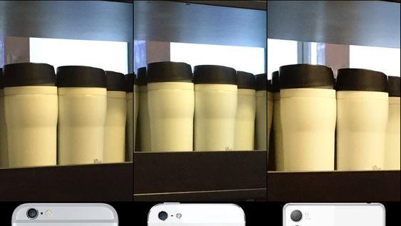 Bilder tatt med iPhone 6 (venstre), iPhone 5S og Sony Xperia Z3.