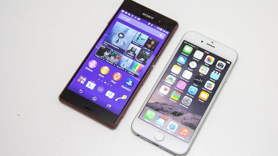 iPhone 6 er ikke fullt så stor som for eksempel Sony Xperia Z3.